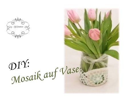 diy mosaik auf vase fr hlingsdeko selber machen spring. Black Bedroom Furniture Sets. Home Design Ideas