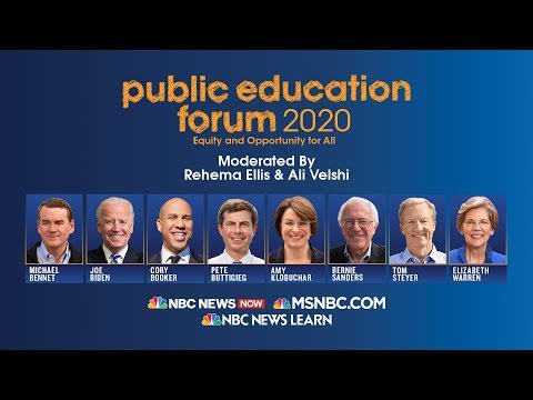 Full video: MSNBC's Public Education Forum 2020 with Democratic hopefuls