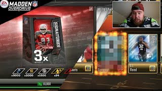 MADDEN OVERDRIVE 3 X SIGNATURE BUNDLES 89+ SIGNATURE SERIES PLAYER IN A PACK OPENING