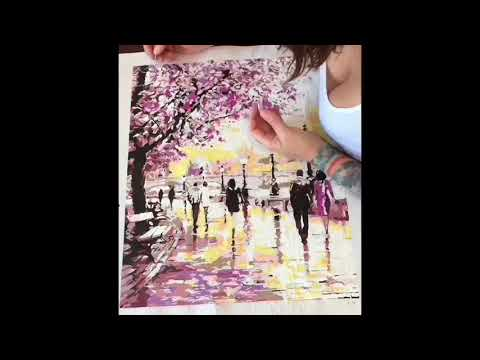 Painting By Numbers - Cherry Blossoms Time Lapse