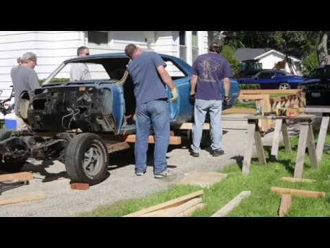 1967 GTO removal of body from frame