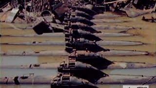 Rusted Japanese Midget Submarines in Kure Naval Base - 12 April 1946