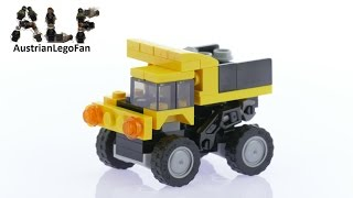 Lego Creator 31041 Construction Vehicles Model 2of3 Dump Truck - Lego Speed Build Review