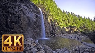 4K UHD Relaxing Waterfall Sounds - 3 Hours Video For Relaxation Study & Sleep thumbnail