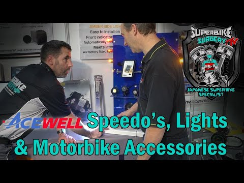 Motorbike Custom Digital & Analogue Dashboards, Lights And Accessories