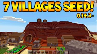 7 VILLAGES SEED!! Minecraft Pocket Edition 0.14.3/0.15.0 Seed - 2 Temples, 7 Villages, Mineshaft!