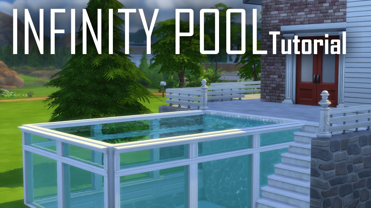 The sims 4 tutorial infinity pools youtube for Pool designs sims 4