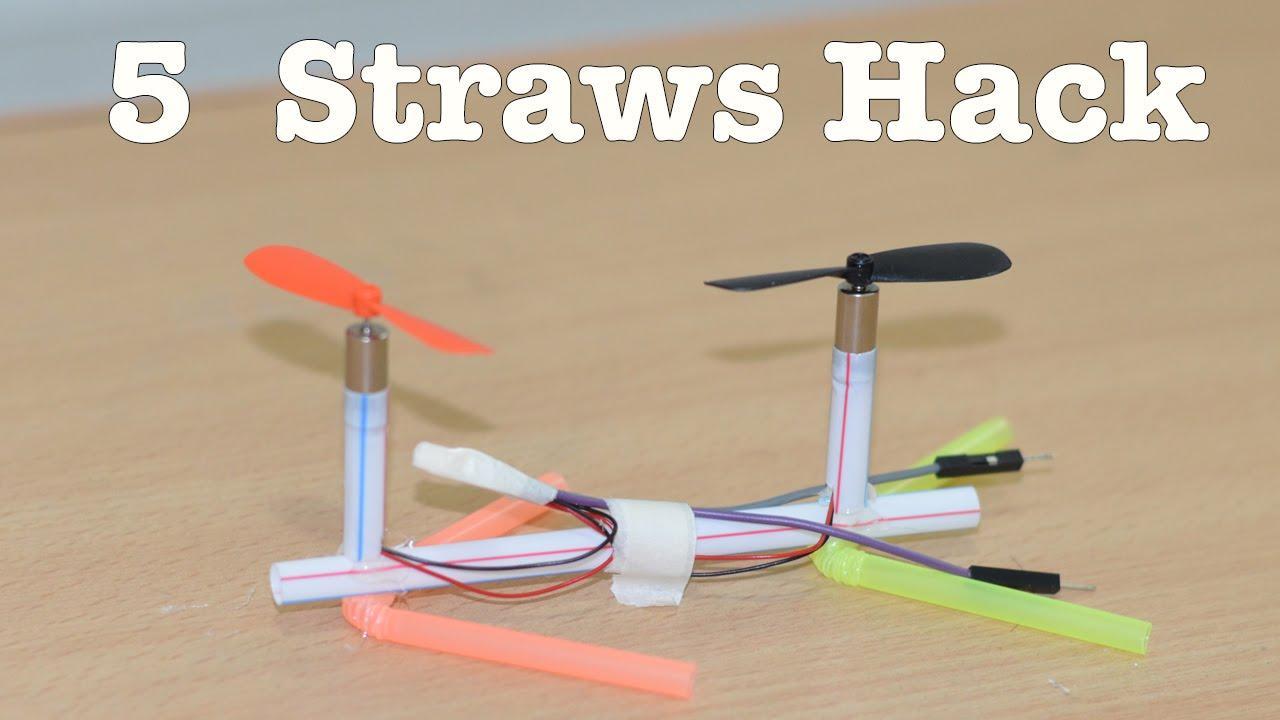 5 Things YOU can make using Straws  Life Hacks  YouTube
