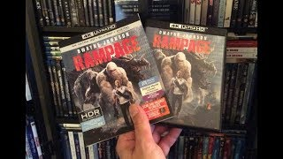 Rampage 4K BLU RAY REVIEW + Unboxing