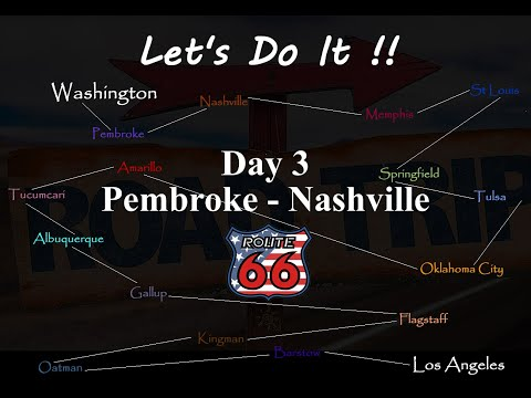 American Road Trip, Route 66, Day 3 Pembroke to Nashville,