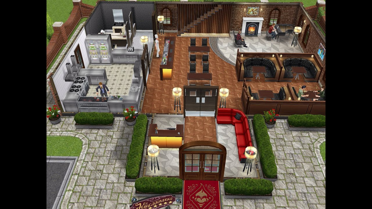 House Plans Online Free The Restaurant Sims Freeplay Let S Eat Update Youtube