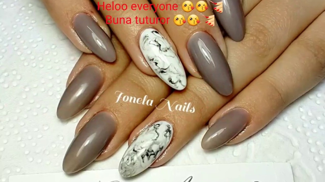 Unghii Gel Marmura Easy Marble Stone Marble Youtube