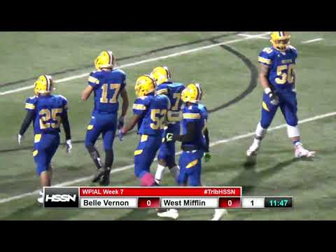 WPIAL Football - Belle Vernon at West Mifflin