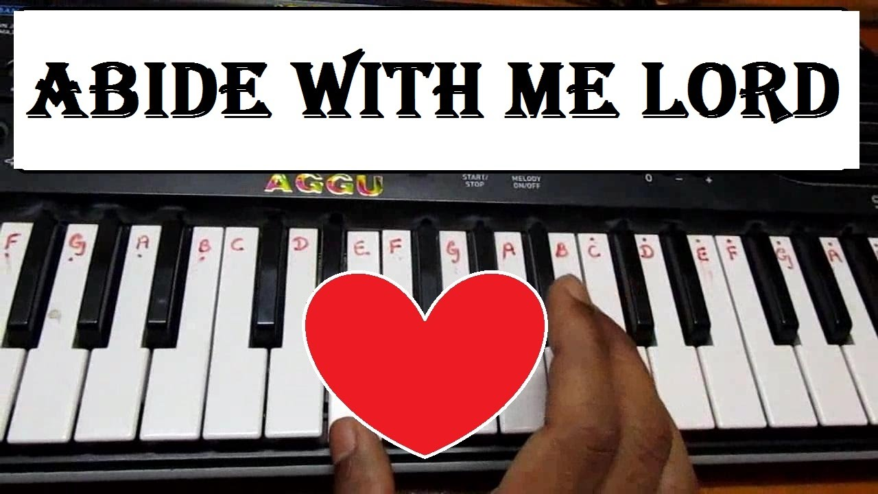 Learn How To Play Abide With Me Hymn On Keyboard Tutorial With