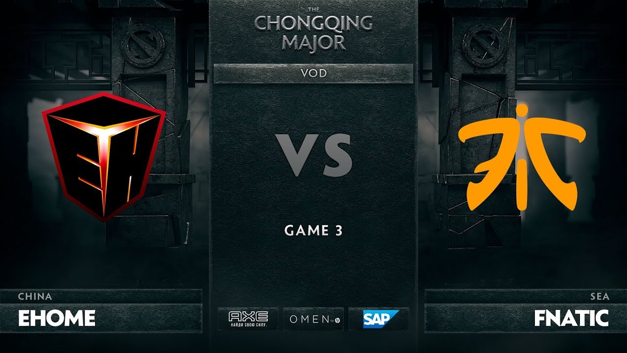 [RU] EHOME vs Fnatic, Game 3, The Chongqing Major UB Round 1