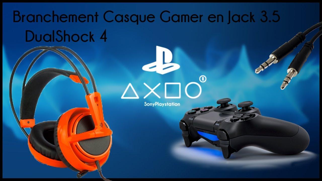 ps4 astuce brancher un casque gamer jack sur dualshock 4 youtube. Black Bedroom Furniture Sets. Home Design Ideas