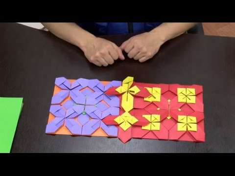 Como hacer un mosaico en origami hogar tv por juan for Como hacer una alberca paso a paso