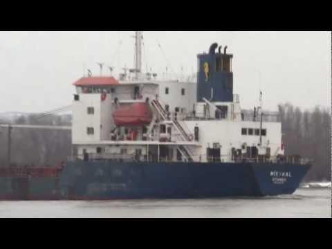 Cargo ship MISTRAL ,Danube river 61mile, Reni-Orlivka,2012.marc.14.