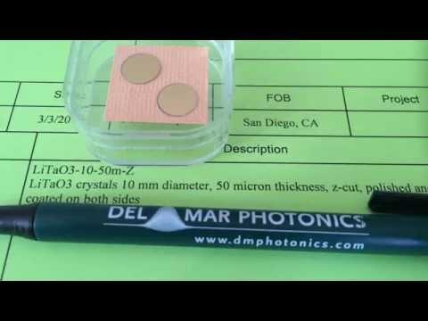 Pyroelectric LiTaO3 crystals sales@dmphotonics.com