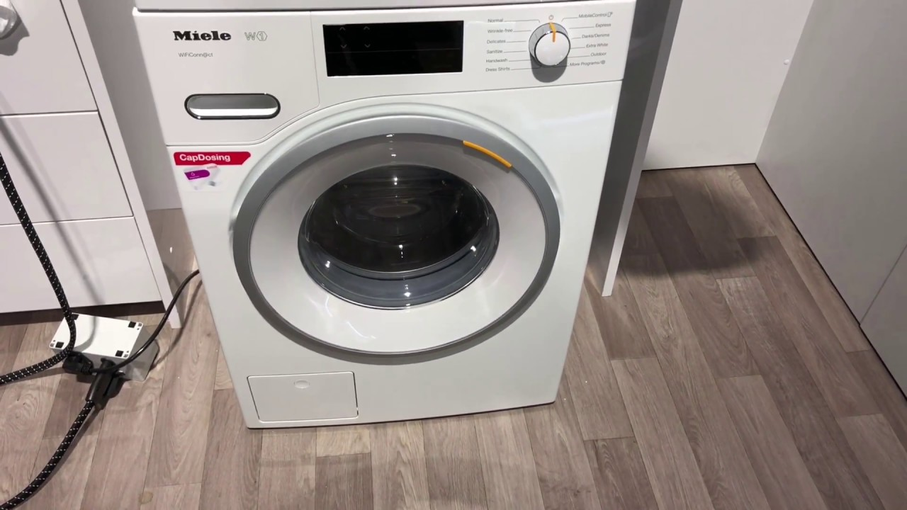 kbis 2018 miele w1 and t1 washer dryer youtube. Black Bedroom Furniture Sets. Home Design Ideas