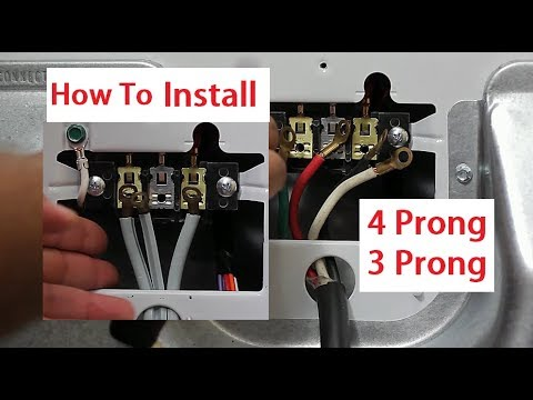 Install 4 Prong and 3 Prong Dryer Cord - YouTube