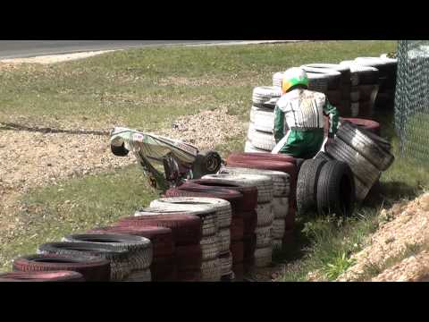 Deutsche Kart Meisterschaft (DKM) 2012 - Kerpen KF1 Start & Crash