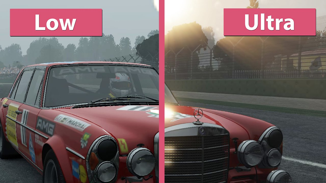 project cars pc low vs ultra graphics comparison youtube. Black Bedroom Furniture Sets. Home Design Ideas