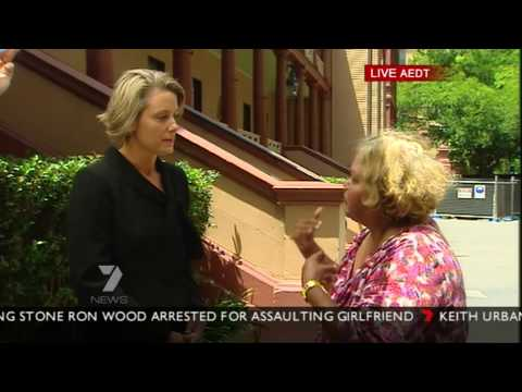 Kristina Keneally interrupted live on air in-front of Parliament House