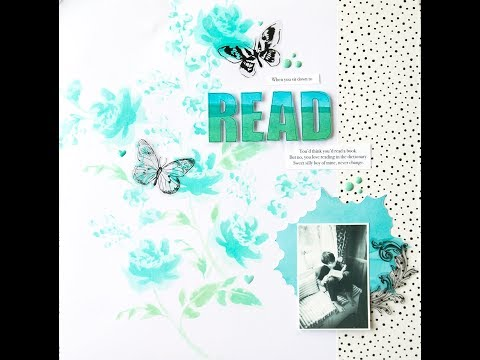 Watercolor Bouquet Stencil Layout With Lilith