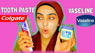 I APPLIED TOOTHPASTE AND VASELINE ON MY FACE ! Look What Happened ! ~ Immy