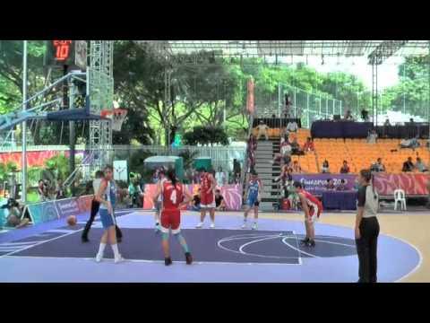 Youth Olympics Basketball 22 Aug 10 – Chile v Team Singapore Girls 1st Half