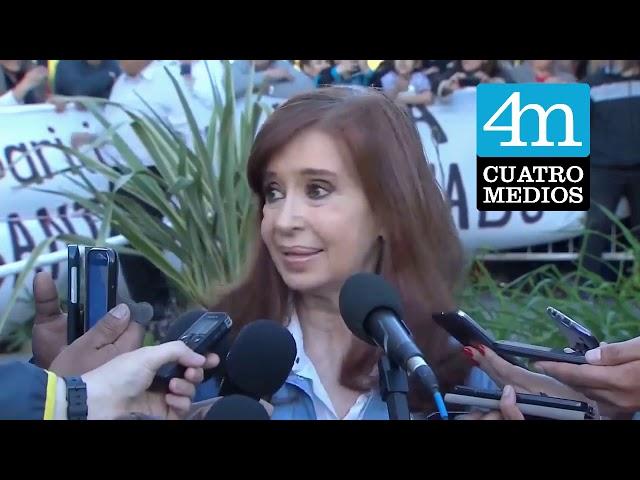 Cristina en Berazategui: pidió que de haber un debate se realice en las universidades