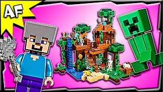 Lego Minecraft JUNGLE TREE HOUSE 21125 Stop Motion Build Review