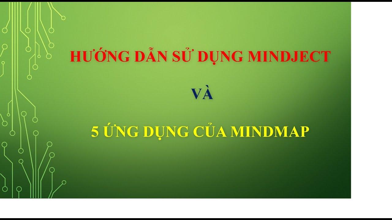 Hướng dẫn sử dụng phần mềm Mindject và 5 ứng dụng của Mindmap