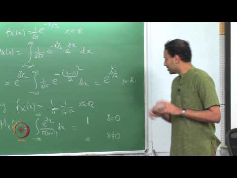 Mod-01 Lec-39 MOMENT GENERATING FUNCTION