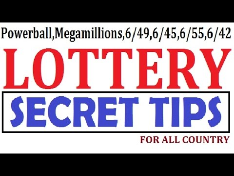 How to win the Lottery - Secret Tip for Powerball,Megamillions,6/45,6/49 and 6/55 lotto