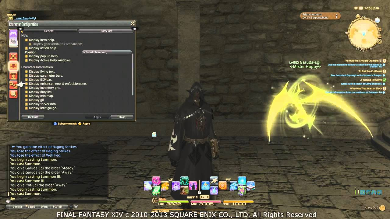 FFXIV ARR Ps3 User Interface Tips YouTube