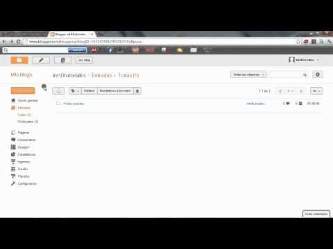 Como crear un blog des de cero muy fácil con BLOGSPOT.COM PARTE 1