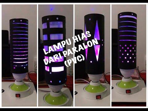 Cara Membuat Lampu Hias || Lampu Hias paralon || Lampu Hias (PVC) || DIY Decorative lamps from PVC