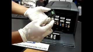 Hướng dẫn đổ mực và reset chip máy in Fuji Xerox DocuPrint CP105b CP205 CM205b refill and reset)