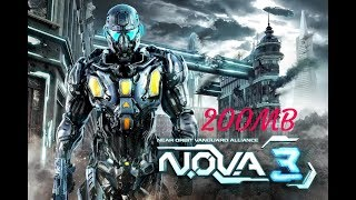 How to download/Install NOVA 3 game highly compares 200MB with unlimited money//apk +Data in hindi