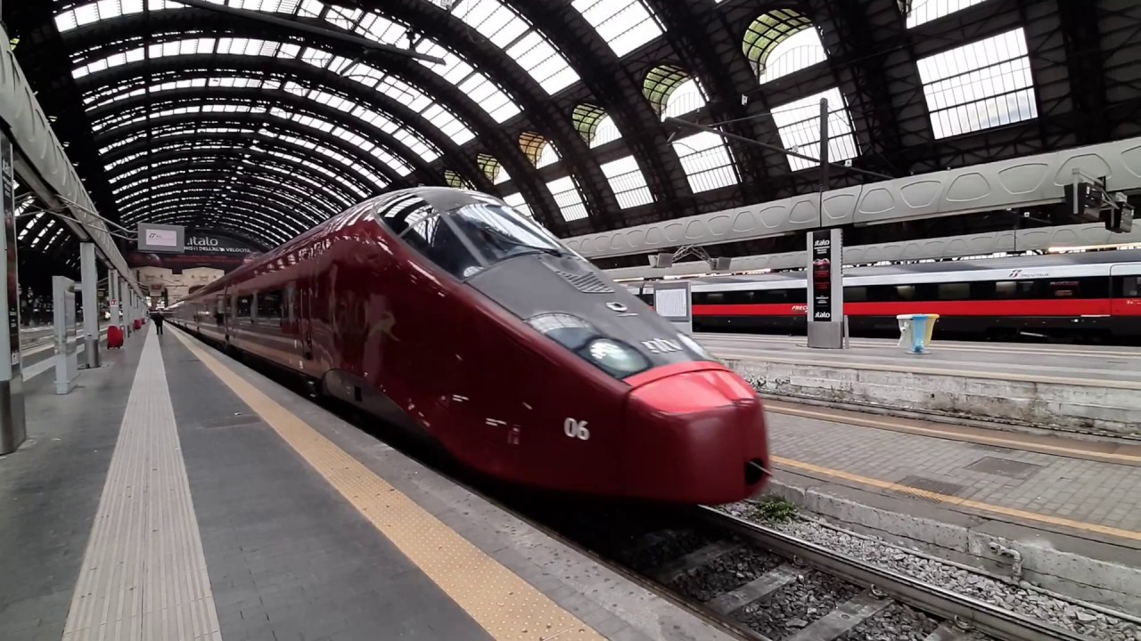 Italo treno in Milano Centrale - 2019 - YouTube