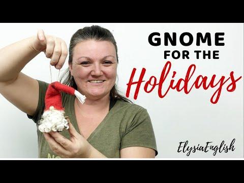 GNOME for the Holidays | DIY No Sew Gnome Decor | Christmas Ornament | Pinecone Project | Wood Gnome