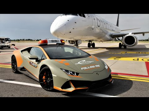 Lamborghini Huracán EVO follow-me car for Bologna Airport