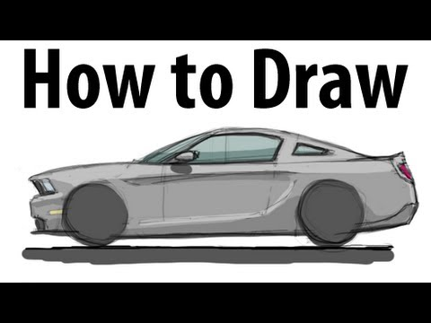 how to draw a ford mustang sketch it quick youtube. Black Bedroom Furniture Sets. Home Design Ideas