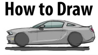 How to draw a Ford Mustang - Sketch it quick!