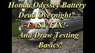 Odyssey Battery Drain Fix and Draw Testing Basics