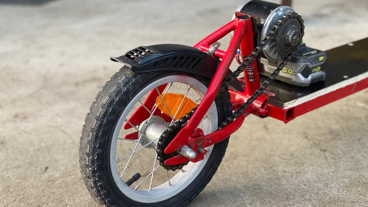 How to make electric scooter at home