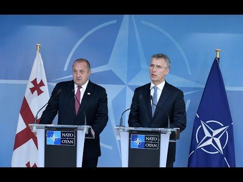 NATO Secretary General with President of Georgia, 08 JUN 2016