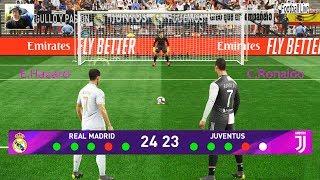 Real Madrid vs Juventus | Penalty Shootout | E.Hazard vs C.Ronaldo | Gameplay PC PES 2019